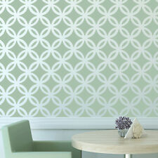 Moroccan Wall Stencil Lattice Circle Allover Pattern for DIY decor Modern Looks
