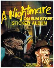 A NIGHTMARE ON ELM STREET STICKERS, UNUSED ALBUM, COMIC IMAGES FREDDY KRUGER