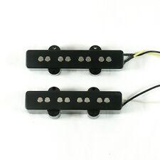 (A67) a Set of Pickup Bridge & Neck For Jazz Bass JB bass Guitar ,BLACK