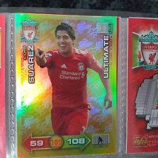 RARE Adrenalyn xl 2011/2012 Liverpool fc ultimate card Luis suarez