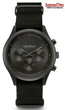 Caravelle New York 45A130 Chronograph Gunmetal Plated Nylon Quartz Men's Watch