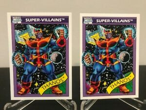 1990 Marvel Universe Thanos ROOKIE 1st Card #79 Pack Fresh - Lot of 2 PSA