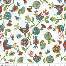 "#1182 Riley Blake Fabrics ""Dutch Treat"" FAT QUARTER  White, by Betz White"