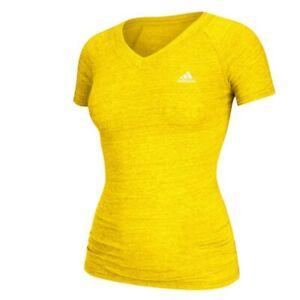 Adidas Women's EQT Performance Yellow Tri-Blend V-Neck T-Shirt A85751