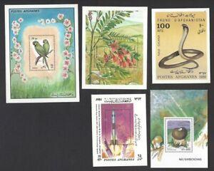 Afghanistan 1984-96 miniature sheet selection MNH (5)