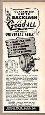 1950 Print Ad Good-All Universal Fishing Reels Made in Ogallala,NE