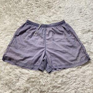 Vintage Nike Youth Shorts Size Medium Kids Activewear Fitness Purple Swoosh Logo