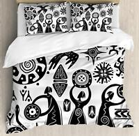 African Tribal Duvet Cover Set Twin Queen King Sizes with Pillow Shams