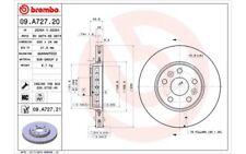 1x BREMBO Disco de freno delantero Ventilado 280mm 09.A727.21