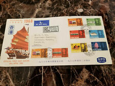 1968 Hong Kong First Day Cover FDC to Canada Pictorial issues