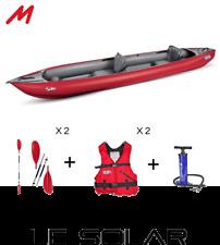 Pack kayak gonflable GUMOTEX SOLAR 2019 complet.