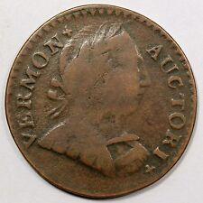 "1788 Rr-25 R-3 ""Horn"" Die Break Vermont Colonial Copper Coin"