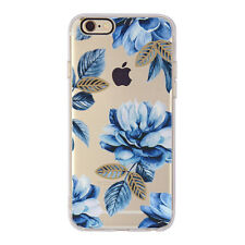 For iPhone 6s 8 7 6 Plus Flower Patterned Soft TPU Silicone Gel Back Case Cover