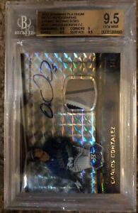 2012 Bowman Platinum Atomic Refractors Relic Autographs Carlos Gonzalez 1/5