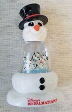 Disney'S 101 Dalmatians Snowman Snow Dome Christmas Decor Collectible