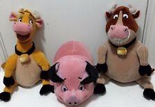 Disney Store Home on the Range Plush Maggie, Grace and Ollie EUC Lot of 3 Set