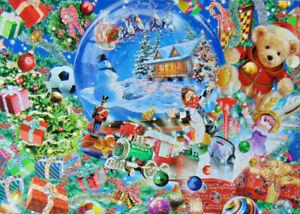 PUZZLE..JIGSAW....CHESTERMAN..GLITTER.....Snow Globe Dreams....500 Pc...Sealed