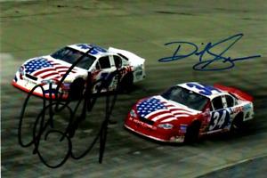 NASCAR Hank Parker Jr & David Green authentic autographed photo NO RESERVE