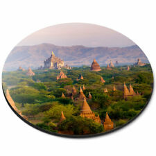 Round Mouse Mat - Temples Bagan Myanmar Burma Office Gift #3529