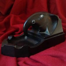 BLACK ART DECO BAKELITE ELEPHANT ASHTRAY CIGARETTE BOX Smoke Pipe Tobacco 1920