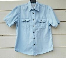 Austin Clothing Men's Button Up Short Sleeves Shirt Sky Blue Size M