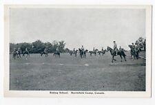 Riding School BARRIEFIELD CAMP Kingston Ontario Canada 1914-18 George Clark