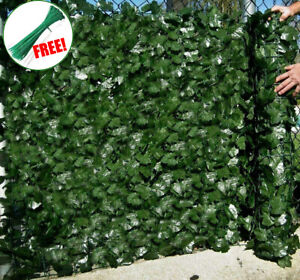 1m x 3m Artificial Screening Ivy Leaf Hedge Panels On Roll Privacy Garden Fence