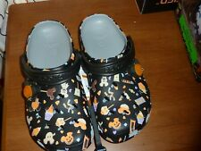 DISNEY'S HALLOWEEN CROCS for Adults w/Mickey Mouse MENS 7 WOMENS 9