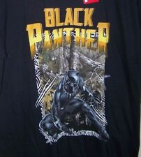 MARVEL BLACK PANTHER T-shirt size Large Black Realtree products 42/44 men shirt