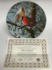 """Knowles Birds of your Garden Collector's Plate """"The Cardinal"""" in Box with Coa"""