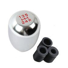 Universal Car 5 Speed Aluminum Shift Knob Manual Gear Stick Shifter Chrome Lever