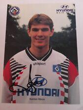Autogrammkarte Org. sign. Karsten Bäron Hamburger SV HSV 1996 / 1997