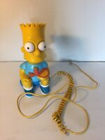 Vintage Bart Simpson Phone Columbia Telcom 1990 Bart-1 Model