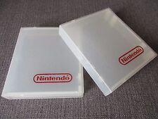 LOT x2 BOITIER PLASTIQUE TRANSPARENT OFFICIEL NINTENDO pour jeux NINTENDO NES