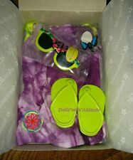 NEW American Girl Doll Lea's Exclusive Purple Beach Dress COMPLETE OUTFIT Set