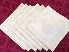 12 NEW Metallic Gold Ivory Wedding French Scroll Wedding Napkins - 24 Avail