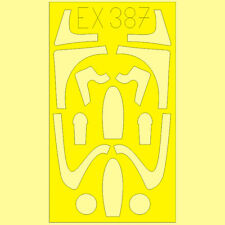 EDUARD 1/48 scale PAINT MASK SET for TRUMPETER MIG 21F-13