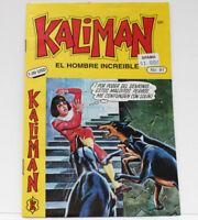 Kaliman El Hombre Increible No 91 El Asesino Invisible Comic en Español