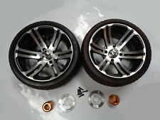 14 INCH ALLOY LOW PROFILE WHEELS WITH HUB & ADAPTER FOR 40MM AXLE PAIR