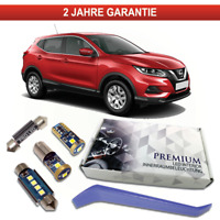 Nissan Qashqai J11 Premium LED Innenraumbeleuchtung Set 8 SMD Weiss Canbus