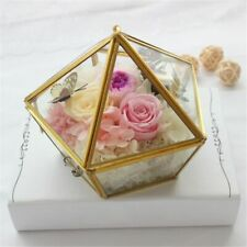 Glass Ring Box For Engagement Wedding Jewelry Case Transparent Accessories Boxes