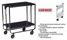 Leifheit 74237 carrello da cucina portavivande richiudibile in metallo