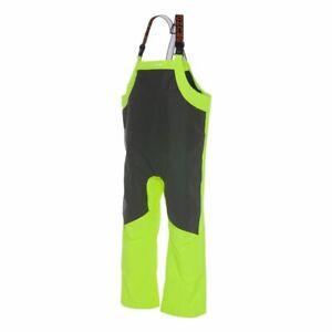 Grundens Ironclad Commercial Fishing Bibs Trousers Rain Gear Hi Vis Yellow Pants