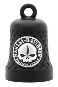 Harley-Davidson Willie G Skull Diamond Plated Ride Bell, Matte Black HRB079
