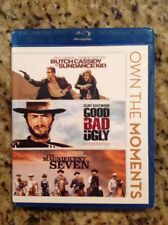 Butch Cassiday & Sundance/The Good,Bad/Magnificent (3-Blu-Ray, 2012)Authentic US
