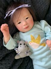 Sweet Reborn Baby GIRL Doll ASHLEY was Laila Realborn Bountiful Baby COMPLETED
