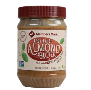 Creamy Almond Butter with Salt 24 oz Nut Butter Spread