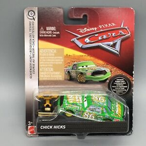 Disney Pixar Chick Hicks Scavenger Hunt Piston Cup Trophy Rubber Tires *Worn Box