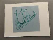 HAND SIGNED AUTOGRAPH BOOK CLIPPING - GERALD FLOOD - DOCTOR WHO ACTOR (2)