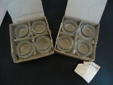 New listing Vtg Frosted Rose Leonard Silver 8-Set Napkin Rings Lead Crystal Silverplate Nib